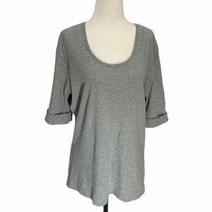 Bleu Gray T-Shirt 💕Short Sleeve Grey Size XL